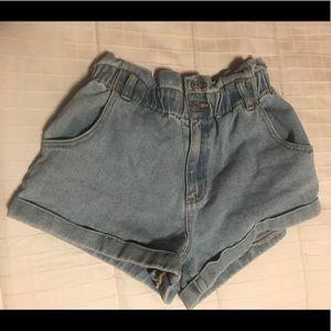 Pacsun paper bag shorts
